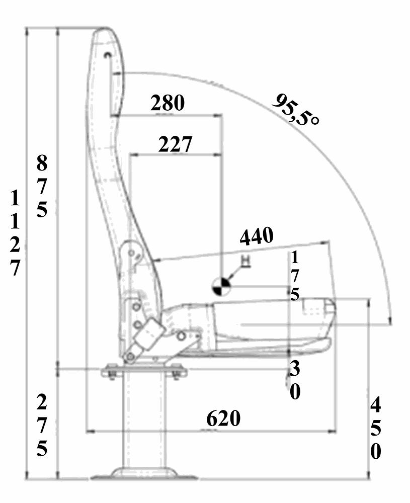 SWIVEL AMBULANCE SEAT