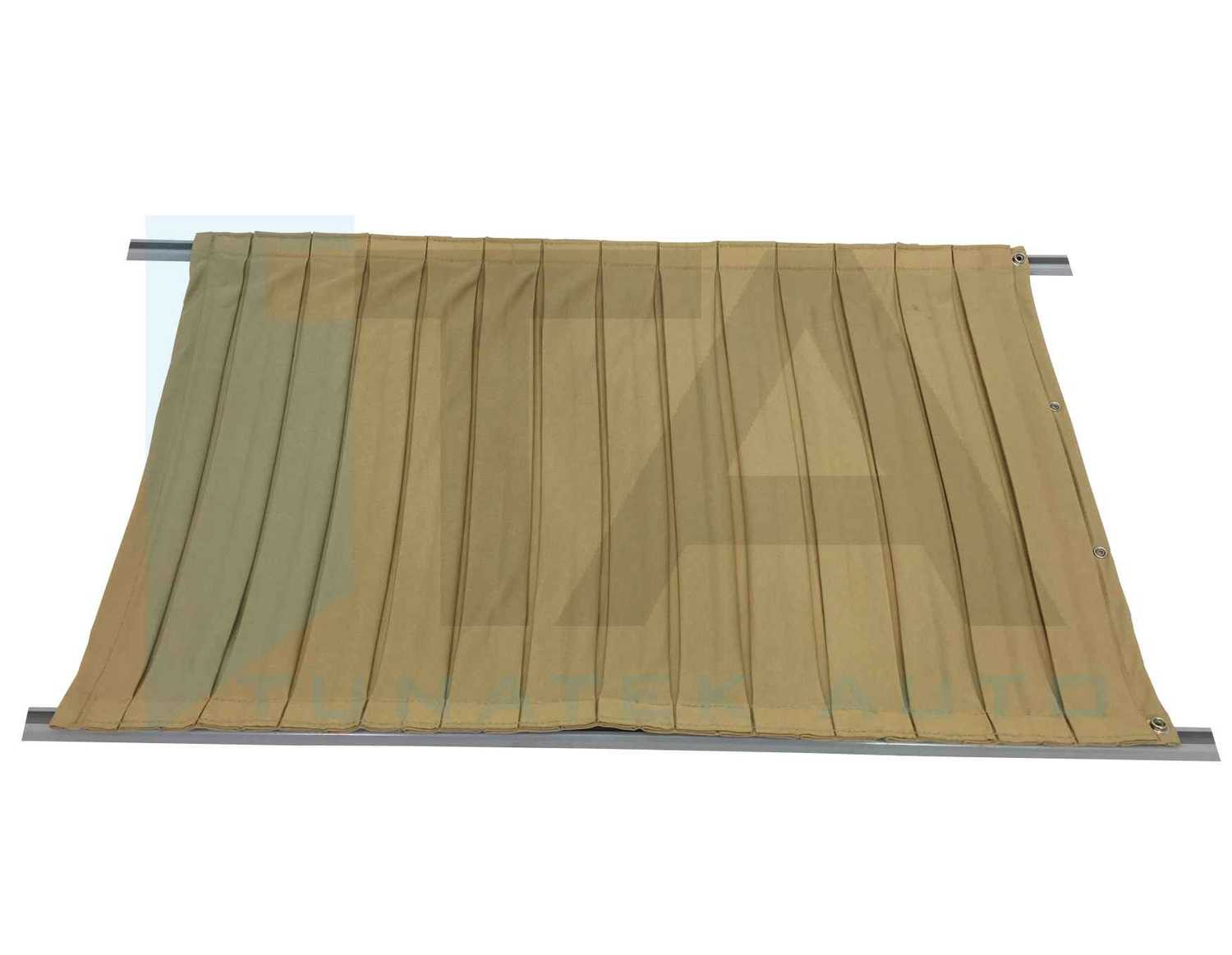PLEATED CURTAIN SET WITH RAIL
